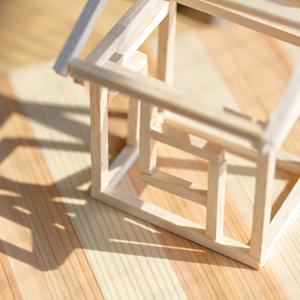 木造架構の展示