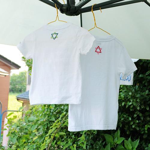 手刺繍でつくる背守りTシャツ