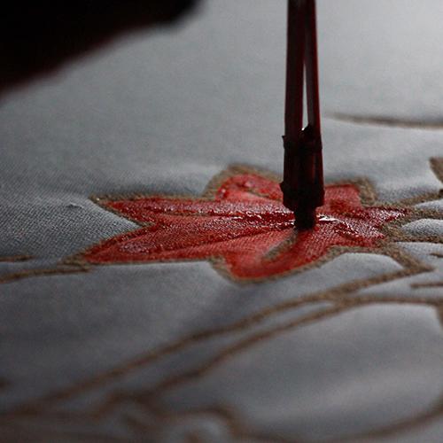 """鹿子踊衣装染色体験<font color=""""#e95295"""">/産地の祭典</font>"""