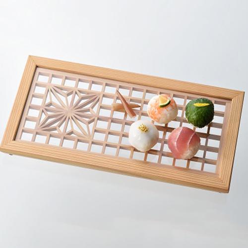 秋田杉の組子で作る和膳プレート